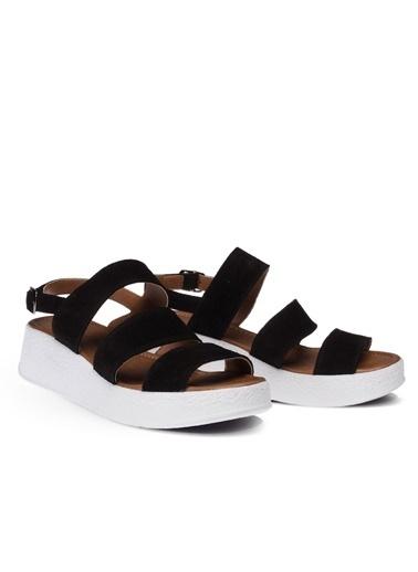 Deery Hakiki Deri Sandalet Siyah